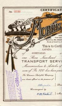 Morris Transport Service LTD. Indie 1944